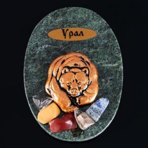 """Магнит """"Мишка косолапый"""", 7х10 см, змеевик, гипс   4746707"""