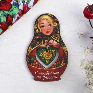 Магнит-матрёшка с подвесом «С любовью из России. Рябина»