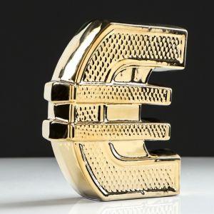 "Копилка ""Евро"", булат, золотистый цвет, 18 см"