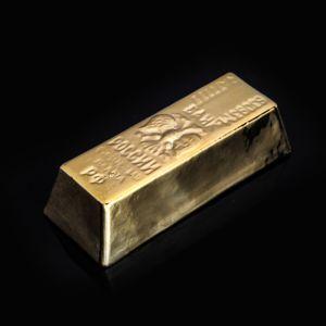 """Копилка """"Слиток'', глянец, золотистый цвет, 5 см"""