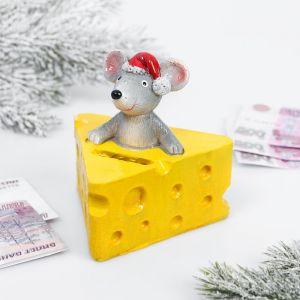 Копилка «Мышка в сыре», полистоун 4308332