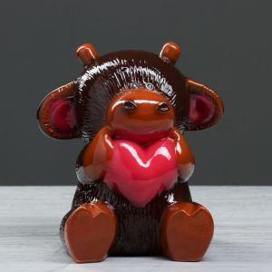 """Коплика """"Бычок Кроха"""" глянец, шоколадный , 19 см"""