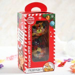 Леденцы в копилке «Посылочка от Дед Мороза», 130 г