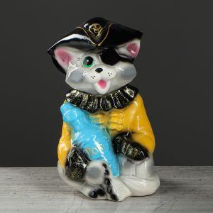 """Копилка """"Кот пират"""", покрытие лак, разноцветная, 24 см, микс"""