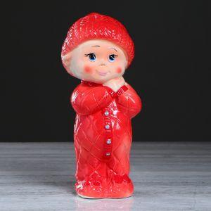 """Копилка """"Малыш пупсик"""", глазурь, разноцветная, 31 см"""