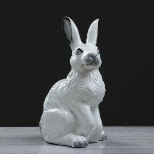 """Копилка """"Заяц"""" белый, глянец , 40 см"""