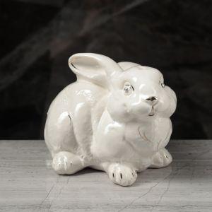 """Копилка """"Заяц"""" глазурь, белая, 14 см  1599232"""