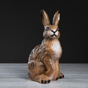 """Копилка """"Заяц"""", бежевая, глянец, 40 см"""