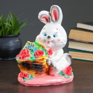 """Копилка """"Кролик с корзиной"""" 23х19см   3928774"""