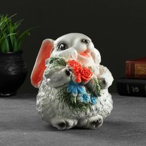 """Копилка """"Кролик серый с цветами"""" 4931353"""