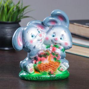 """Копилка """"Кролики с клубникой 16см 435648"""