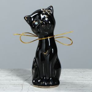 """Копилка """"Алиса мини"""", покрытие глазурь, чёрная, 15 см"""