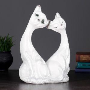 "Копилка ""Две кошки большие"" 30х21см белые  4483323"
