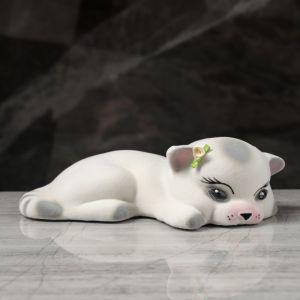 """Копилка """"Кот Малыш"""", покрытие флок, серая, 8 см, микс"""