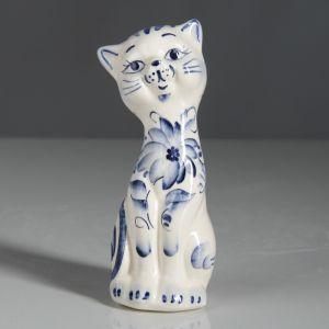"""Копилка """"Кошка Алиса"""", покрытие глазурь, белая, 14 см"""