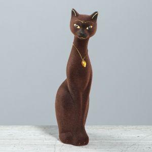 "Копилка ""Кошка Мурка"", покрытие флок, коричневая, 28 см"
