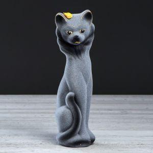 """Копилка """"Кошка Фея"""", покрытие флок, серая, 26 см"""