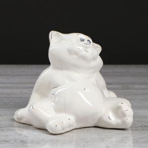 "Копилка ""Толстопуз"", белый цвет, 15 см"