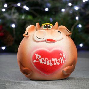 """Копилка """"Бык круглый"""" 15см   4730652"""