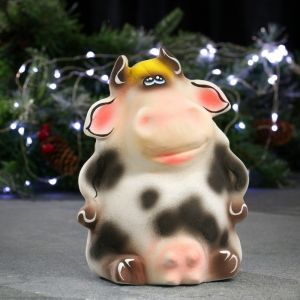 """Копилка """"Веселая корова"""" пятнистая 23х17см 4877807"""