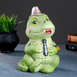 """Копилка """"Деловой крокодил"""" 18х15х16см   4646166"""