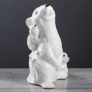 """Копилка """"Крыса Мама"""", глазурь, белый цвет, 26 см"""
