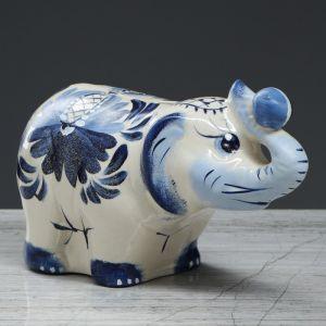 """Копилка """"Слон большой"""", глянец, разноцветная, 13 см"""