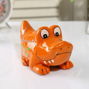 "Копилка керамика ""Крокодил"" МИКС 8х14х7,5 см   3747639"