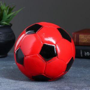 """Копилка """"Мяч"""" 14см красно-черный 2224128"""