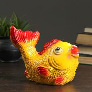 """Копилка """"Рыбка"""" жёлто-красная, 21х10х14см   3991292"""