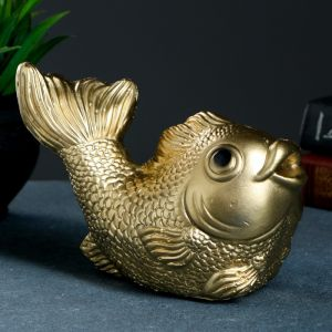 "Копилка ""Рыбка"" золотая, 20х12х15см   3991293"