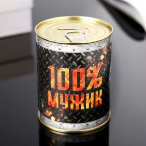 "Копилка-банка металл ""Мужик сказал"" 7,3х9,5 см МИКС   4479909"
