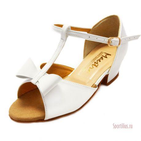 Туфли для бальных танцев кожаные для девочки