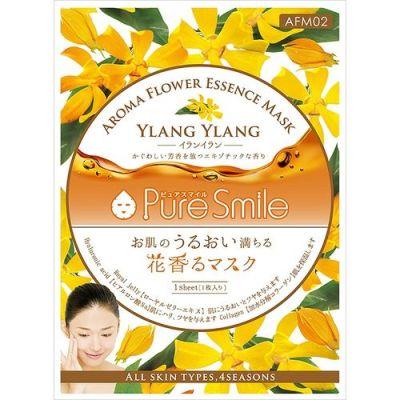 Pure Smile Aroma Flower Маска для лица с коэнзимом Q10, коллагеном, гиалуроновой кислотой, пантенолом и экстрактом алоэ-вера, 23 мл.