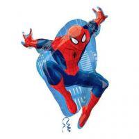 Шар фигура человек паук с гелием 78 см