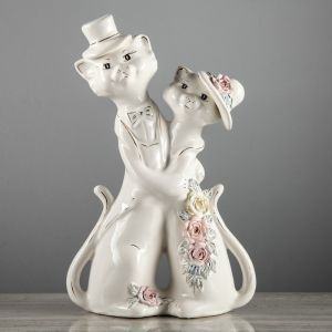 "Копилка ""Барышня и кавалер"", глянец, белый цвет, 41 см"