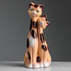 """Копилка """"Коты близнецы"""", покрытие лак, бежевая, 34 см"""