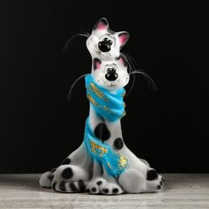 """Копилка """"Коты в шарфе"""", флок, серая, 30 см, микс 1494851"""