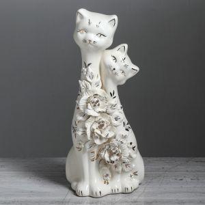 """Копилка """"Коты сладкая парочка"""", покрытие глазурь, белая, 33 см, микс"""