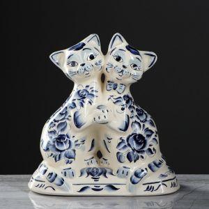 """Копилка """"Коты танцующие"""", покрытие глазурь, белая, 26 см"""