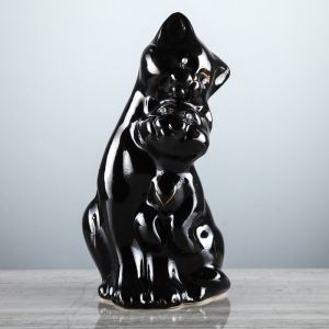 """Копилка """"Пара котов"""", покрытие лак, чёрная, 26 см"""