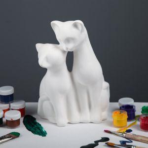 """Копилка -раскраска """"Коты целующиеся"""", под роспись, 27 см"""