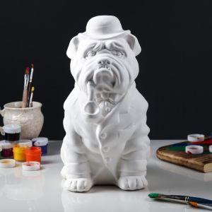 """Копилка -раскраска """"Собака Буржуй"""", под роспись, 35 см"""