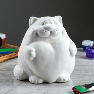 "Копилка-раскраска ""Кот с сердцем""   3673998"