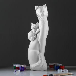 """Копилка -раскраска """"Кошка Ангора с котёнком"""", под роспись, 52 см"""