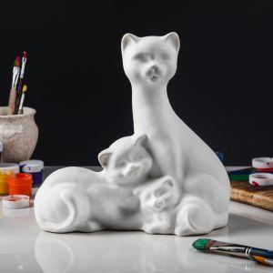 """Копилка-раскраска """"Кошка с котятами"""", 26 см 3792324"""