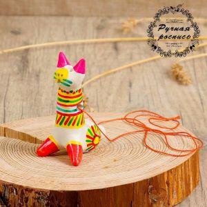 Филимоновская игрушка - свисток «Котик» 3579642