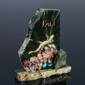 """Сувенир-скол """"Ящерица"""", с камнями, малый   4655879"""
