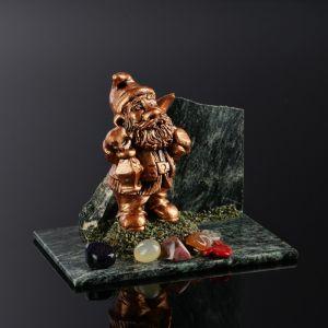 """Сувенир """"Гном"""", 8х12х9 см, змеевик, гипс, микс   4746696"""