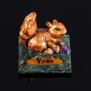 """Сувенир """"Пушистик"""", 5х5х6 см, змеевик, гипс, микс   4746718"""